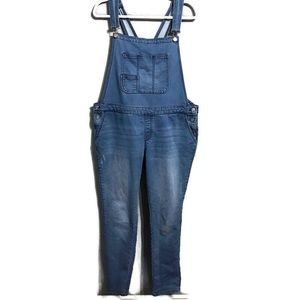 Mossimo Blue Skinny Overalls Size Large